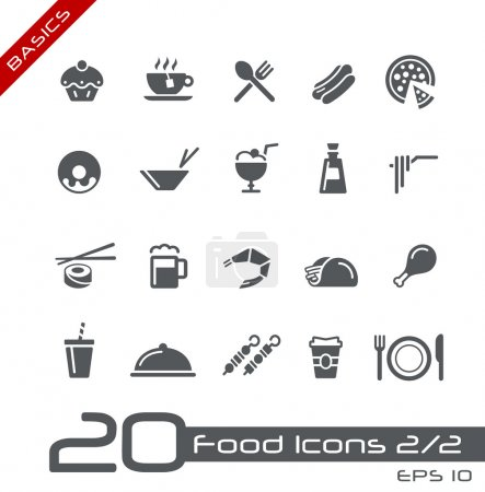 Food Icons - Set 2 of 2 // Basics