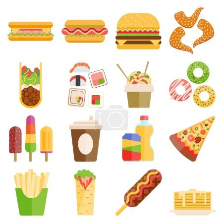 Fast food vector set.