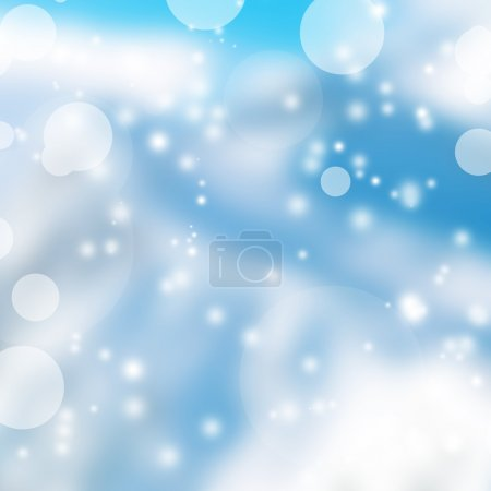 Abstract Winter background with beautiful bokeh