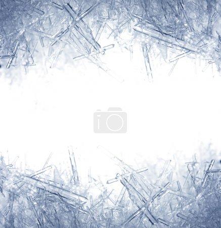 Closeup of ice crystals