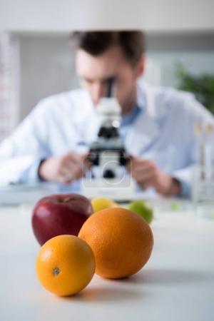 Male scientist at laboratory