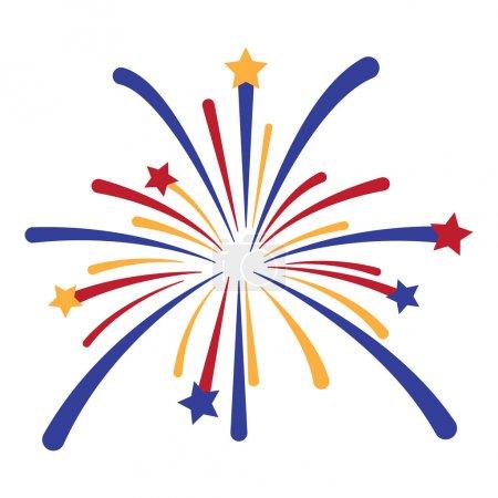 Vector Fireworks Explosion