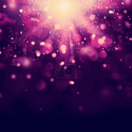 Violet Abstract Christmas background