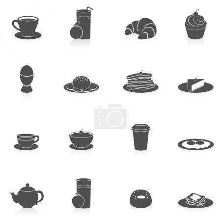 Breakfast Icons Black