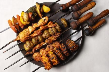 Barbecue Kebab Platter from India