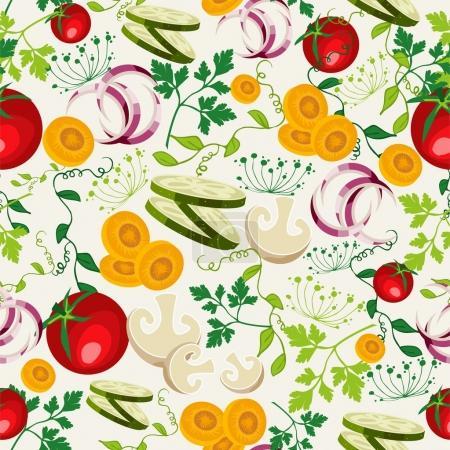 Vegetarian food pattern background