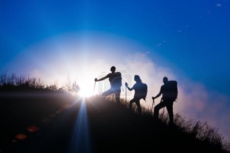 Family journey wild landscape