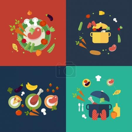 icons for food and restaurant